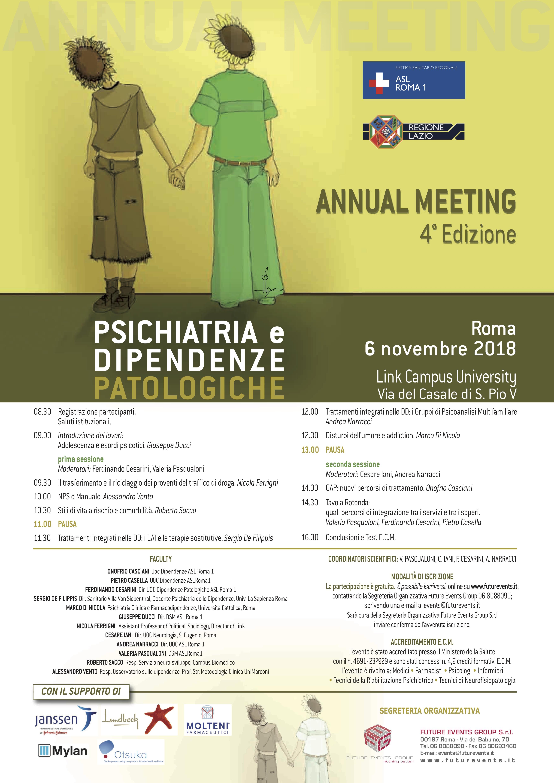 Psichiatria e dipendenze_Locandina